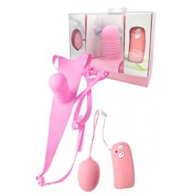Розовые трусики с вибрацией Vibe Therapy Intimacy